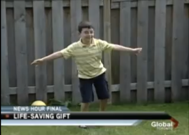 Mikey's Kids Recipient Is Profiled On Global TV News