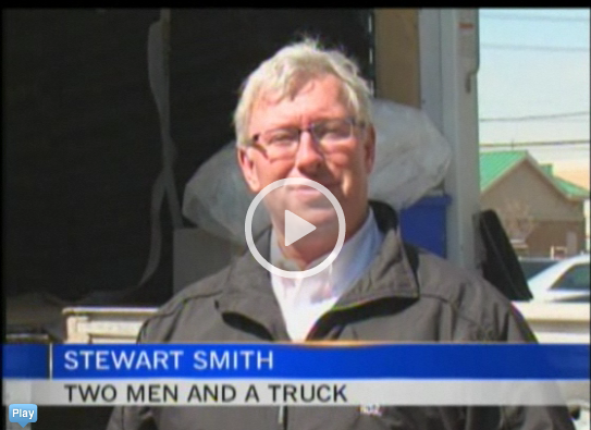 Mikey On Board with Two Men And A Truck Featured On CTV News