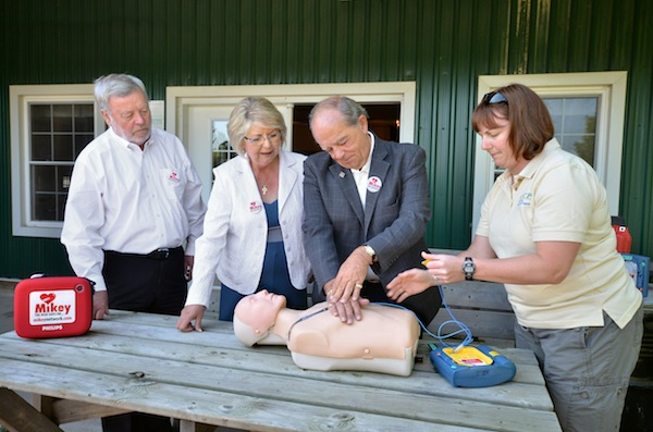 The Mikey Network places defibrillators at WindReach Farm