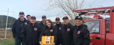 The Volunteer firefighters of Pacquet, Newfoundland and Labrador now have a much needed MIKEY AED